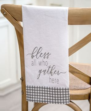 Picture of Bless All Who Gather Here Dish Towel