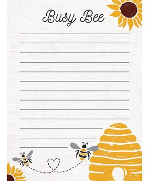 Picture of Busy Bee Mini Notepad
