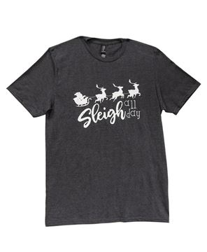 Picture of Sleigh All Day T-Shirt, Heather Dark Gray