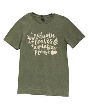 Picture of Autumn Leaves + Pumpkins Please T-Shirt, XXL