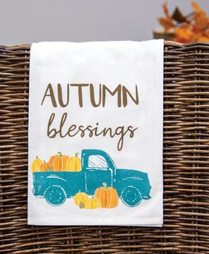 Picture of Autumn Blessings Fall Truck Dish Towel