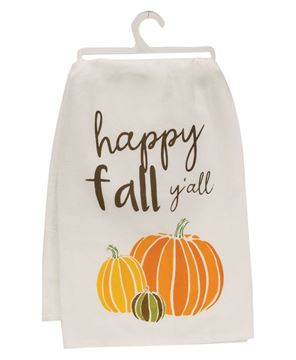 Picture of Happy Fall Y'all Dish Towel