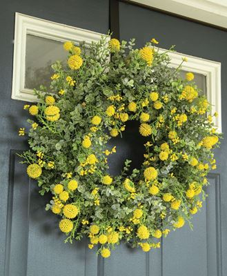Picture of Garden Bliss Wreath, Yellow