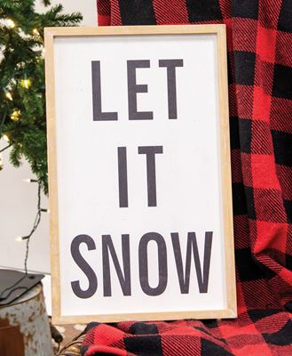 Picture of Let It Snow Distressed Wooden Frame