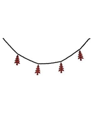 Picture of Buffalo Check Christmas Trees Beaded Garland