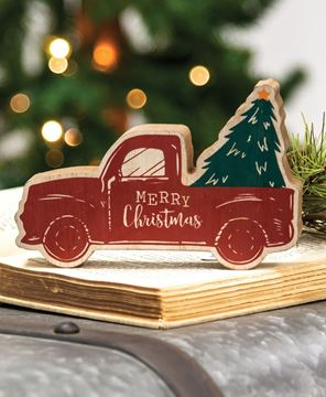 Picture of Merry Christmas Chunky Truck Sitter