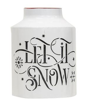 Picture of Let It Snow Half Milk Can Luminary