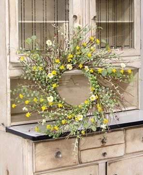 Picture of Yellow Wildflowers Wreath, 22""