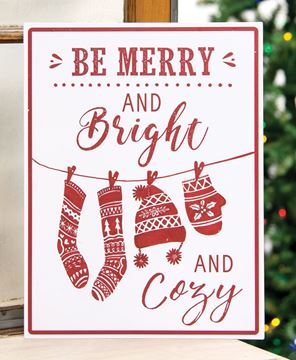 Picture of Merry, Bright & Cozy Metal Sign