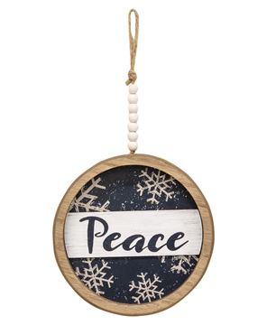 Picture of Winter Blessings Snowflake Shadowbox Hanger, 2 Asstd.