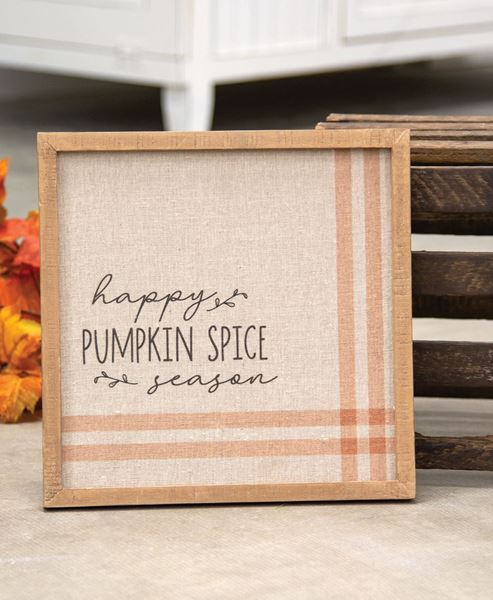 Picture of Happy Pumpkin Spice Season Feed Sack Frame