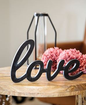 Picture of Hanging Black Script Love Sign