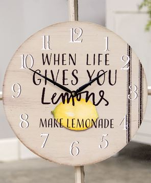 Picture of When Life Gives you Lemons Clock
