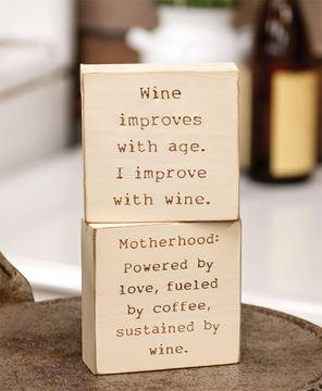 Picture of Motherhood Engraved Block, 2 Asstd.