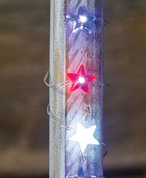 Picture of LED Patriotic Mini Star Lights, 20ct