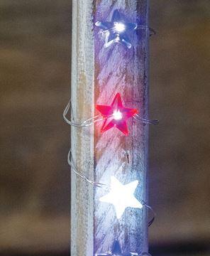 Picture of LED Patriotic Mini Star Lights, 20ct