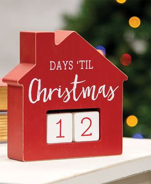 Picture of Days Til Christmas House Countdown Calendar