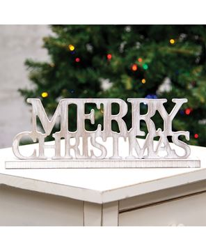 Picture of Weathered Wood Merry Christmas on Base