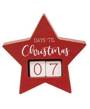 Picture of Days Til Christmas Star Countdown Calendar