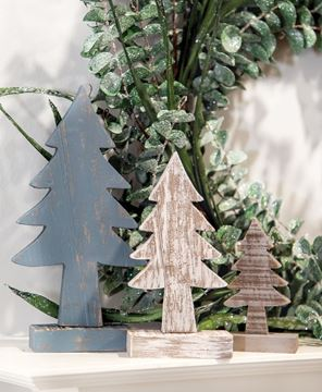 Picture of Rustic Wood Country Trees, 3/Set