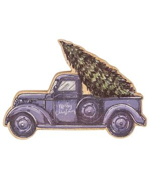 Picture of Blue Christmas Truck Chunky Sitter