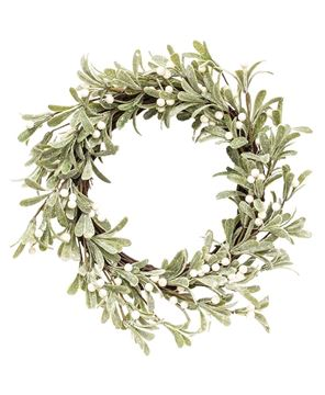 Picture of Glittered Mistletoe Wreath