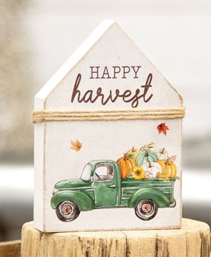 Picture of Happy Harvest Chunky House Sitter with Pumpkin Truck