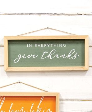 Picture of In Everything Give Thanks Inset Framed Sign