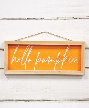 Picture of Hello Pumpkin Inset Framed Sign