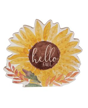 Picture of Hello Fall Chunky Watercolor Sunflower Sitter