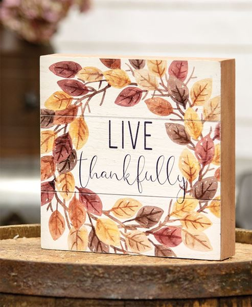 Picture of Live Thankfully Pallet Box Sign