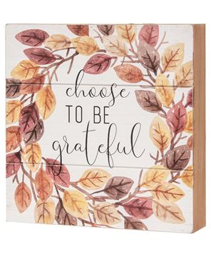 Picture of Choose to Be Grateful Pallet Box Sign