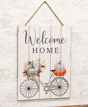Picture of Welcome Home Pumpkin Bicycle Pallet Sign