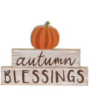 Picture of Autumn Blessings Pumpkin Stackers, 3/Set
