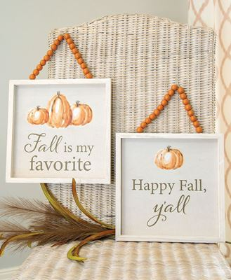 Picture of Happy Fall Y'all Beaded Sign, 2 Asstd.
