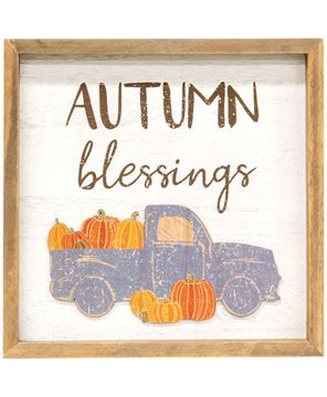 Picture of Autumn Blessings Pumpkin Truck Distressed Frame