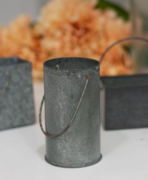 Picture of Washed Tin Mini Flower Bucket