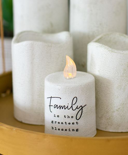 Picture of Family Treasure White Cement Timer Pillar