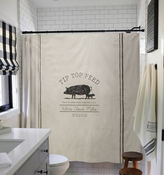 Picture of Tip Top Feed Farmhouse Shower Curtain