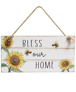 Picture of Bless Our Home Distressed Shiplap Sign