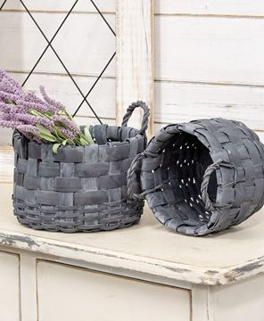 Picture of Natural Gathering Baskets w/Rope Handles, 2/Set