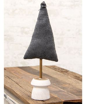 """Picture of Gray Fabric Tree 15.5"""""""