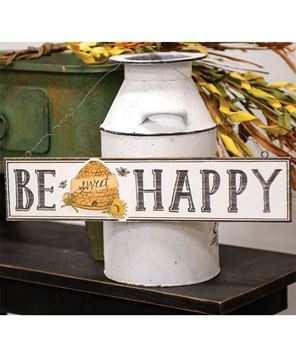 Picture of Be Happy Beehive Sign