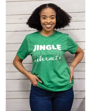 Picture of Jingle All The Cabernet, Heather Green,  T-Shirt XXL