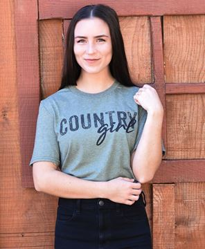 Picture of Country Girl T-Shirt, Green XXL