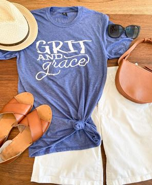 Picture of Grit and Grace T-Shirt, Heather Blue XXL