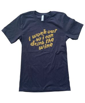 Picture of I Workout For Wine T-Shirt XXL