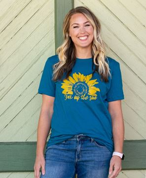 Picture of Soak Up The Sun T-Shirt, Heather Deep Teal XXL