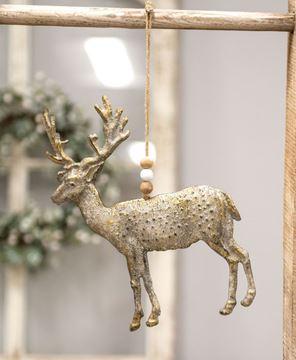 Picture of Rustic Metal Reindeer Ornament