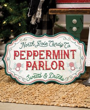 Picture of Peppermint Parlor Metal Sign